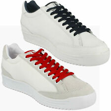 MENS ELLESSE WHITE LACE UP CLASSIC/CASUAL STYLE TRAINERS LEVANTO