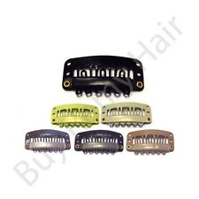 100 x 2.8 cm Hair Extensions Snap Weave  Weft  Clips With Silicone Grip