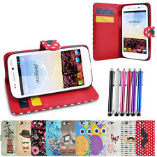 ETUI COQUE HOUSSE PORTEFEUILLE POUR WIKO STAIRWAY + FILM ET STYLET OFFERT