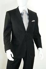 R. Orsini Men's 2 Piece Solid 2 Button Regular Fit Suit Style D62T Black