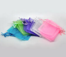 Wholesale HOT! Jewelry Organza Wedding Gift Bags&Pouches Mixed 9x7cm B07742