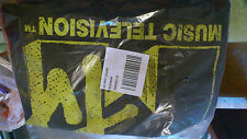 Urban Outfitters Black Yellow Ladies MTV Fitted Junk Food Tee Tshirt BNWT UK M
