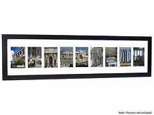 Creative Frames 10 Opening Black Picture Frame w/Glass holds 4x6 in 10x40 mat