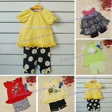 NEW Baby Girl 2pc dress set dress top + legging size 6 months -4 years