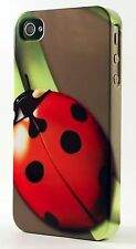 Lady Bug On A Blade Of Grass Plastic Case Fits Apple iPhone 4 4s 5 5s 5c 6