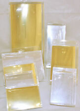 Clear Acetate Display Boxes with Gold or Silver Card, 8 Sizes Available