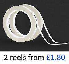 Clear Strong Double Sided Tape. All Widths. 2 x 25 Metre Reel Packs