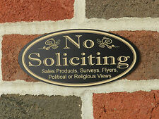 Engraved No Soliciting Sign, no solicitation sign, no religious soliciting sign