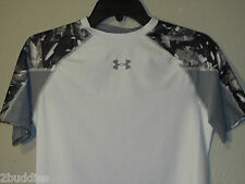 NWT $40 UNDER ARMOUR NFL COMBINE SHATTER COMPRESSION SHIRT 1236230 WHT/GRAY 100