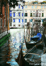 A4 A3 or A2 Venice Italy Art Print of original Italian drawing by RussellArt