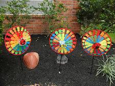 Windmill Wind Spinner Rainbow Wheel Whirligig Garden Lawn Yard Decoration