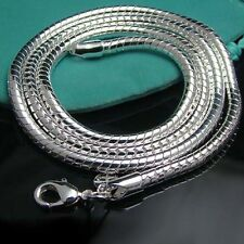 """925Sterling Silver Hot Selling Snake Chain Mens Ladys Necklace 4MM 16""""-24"""""""