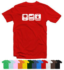 Eat Sleep Garden Mens Funny T-Shirt in 12 Colours by Smudged