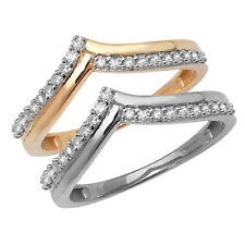 Wishbone Shaped 9ct White or 9ct Yellow Gold 15pts Diamond Wedding Ring (Band)