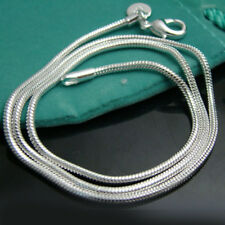 """925Sterling Silver Hot Selling Snake Chains Strong Mens Necklace 3MM 16""""-24"""""""