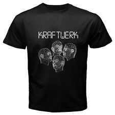 KRAFTWERK Musique Non Stop Robots Human Synth Pop Men's Black T-Shirt Size S-3XL