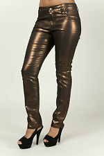 METALLIC COPPER  SLIM FIT JEANS BY B.YOUNG