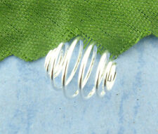 Wholesale HOT! Jewelry Silver Plated Spiral Bead Cages 8x9mm