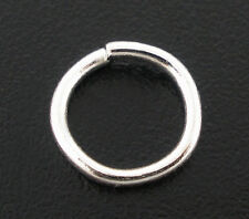 Wholesale HOT! Jewelry Silver Plated Open Jump Rings 8x1mm Findings