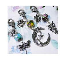 Buy 2 Get One Free - Owl, Dragonfly, Sun Moon - handbag charm dangle, key ring