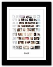 CHVRCHES The Mother We Share ❤ song lyrics typography poster art print A1 A2 A3