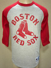 BOSTON RED SOX VINTAGE-STYLE DISTRESSED 3/4 SLEEVE JERSEY