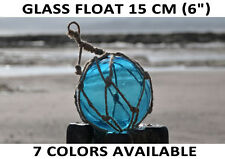 "Glass bouy float nautical seaside fishing float 15cm (6"") seaside, beach, buoy"