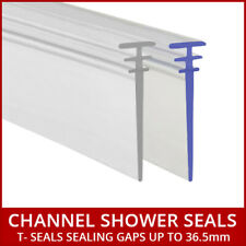 Long Bath Shower Screen Track Seal Multi Tee Profile Folding Door White or Clear