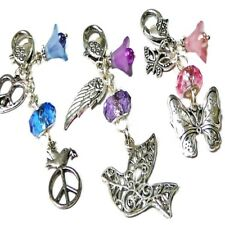 Buy 2 Get One Free -Peace Sign,Dove,Butterfly - Handbag charms dangle, key ring