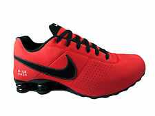 CLASSIC MENS NIKE SHOX DELIVER LEATHER RUNNING SHOES LIGHT CRIMSON / BLACK / WHI