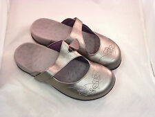 Ladies Orthaheel JANE PEWTER Mule Sandals- WIDE WIDTH!  AWESOME 4 FALL! PREOWNED