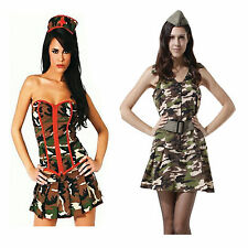 Sexy army girl collection fancy dress party costume outfit military Halloween
