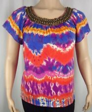 Womens NWT Elementz Purple Red Short Sleeve Top Blouse Shirt Plus Size 1X 2X 3X