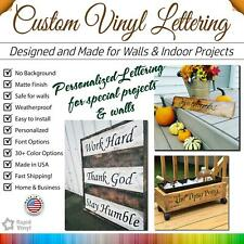 Custom Vinyl Lettering, Text, Name, Wall, Window Decal Sticker Art Large Sizes