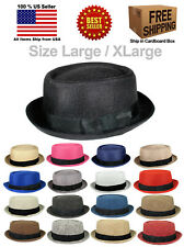 FABRIC PORK PIE PORKPIE FEDORA UPTURN SHORT BRIM CAP HAT CAP LARGE / XLARGE