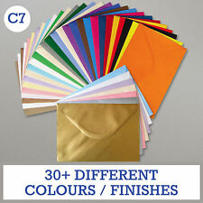 PREMIUM C7 (A7) UK MADE CARD ENVELOPE BLANKS Mini Christmas/Wedding/Greetings UK