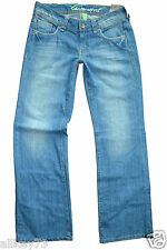 BAUMWOLL JEANS ESPRIT BOOTCUT WASHED USED DAMEN JEANS PLAY FIT