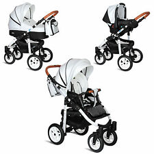 MY JUNIOR+® MIYO KOMBI KINDERWAGEN 12-TEILE-MEGASET 3-IN-1 + BUGGY + BABYSCHALE