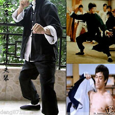 Bruce Lee Kung Fu 3 pieces Suit Costume martial arts wing chun outfit uniform