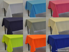 Rectangle Polyester Fabric Tablecloth (over locked using quality cotton thread)