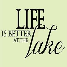 LIFE IS BETTER AT THE LAKE Wall Decal Wall Sticker Home Life Wall Art Decal