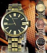 New Style Copper/Bronze Tone Steel Analog Quartz Mens Casual Watch Fashion