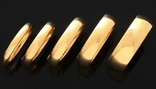 STUNNING 14K GOLD PLATED 316L SURGICAL STEEL BAND RING WEDDING