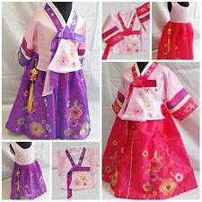 Korean Traditional Hanbok Floral Baby Girls Dress Fancy Costume Outfit 1-4 Years