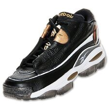 ef52dc5e6e0e13 Reebok Answer DMX 10 Allen Iverson I3 Black White Gold Basketball Shoe Mens  8-13