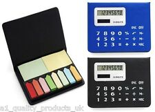 Calculator With Memo Note Case - 8 digit power, Self Adhesive Pad set BNIB Multi