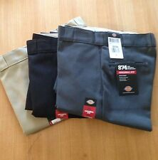 Dickies Mens 874 Traditional Work Pant Black, Khaki, Charcoal, Various sizing.