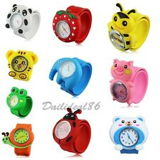 Animals Children Watch 3D Cartoon Bendable Plastic Strap Kids Gifts Slap Watches