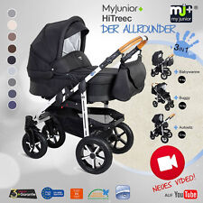 KINDERWAGEN MY-JUNIOR+®HiTreec KOMBIKINDERWAGEN 3 IN 1 PRAM BUGGY BABYSCHALE WOW