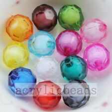 8-20MM 32 Faceted Acrylic Round Chunky Easter Beads Vatage DIY Jewelry Charm Fin